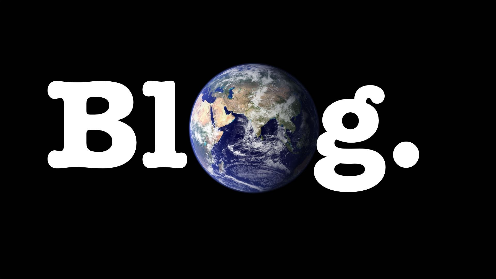 Blog with the earth as the o